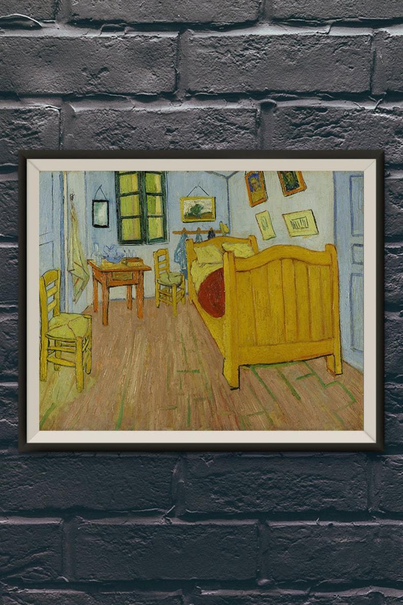 Vincent Van Gogh Bedroom In Arles Oil Painting Etsy