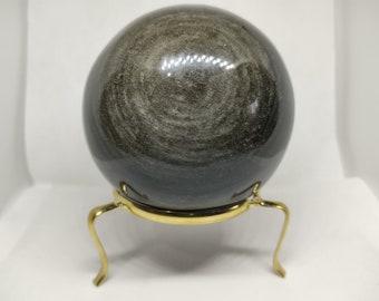 Large Gold Sheen Obsidian Sphere