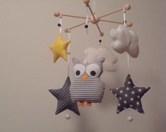 Baby mobile eule etsy