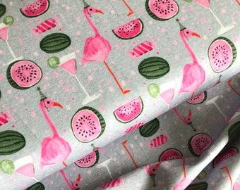 Flamingo Party Jersey Swafing Baumwolljersey 0,5 m Stretchjersey