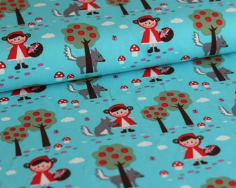 Lille fabric jersey wool and cap 0.5 m cotton jersey organic GOTS