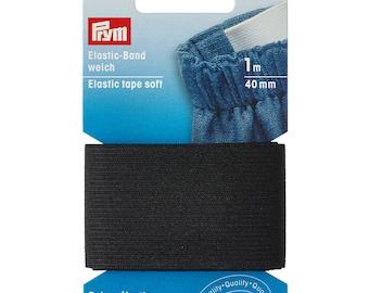 Prym Elastic tape soft BLACK 40 mm (sales unit: 2 pcs. per 1.00 m)