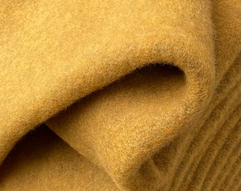 Very soft wool fluff made of virgin wool (merino wool) and cotton CURRY