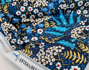 Weaving Art Gallery Cotton Fabric Patchwork Fabric sflower blue