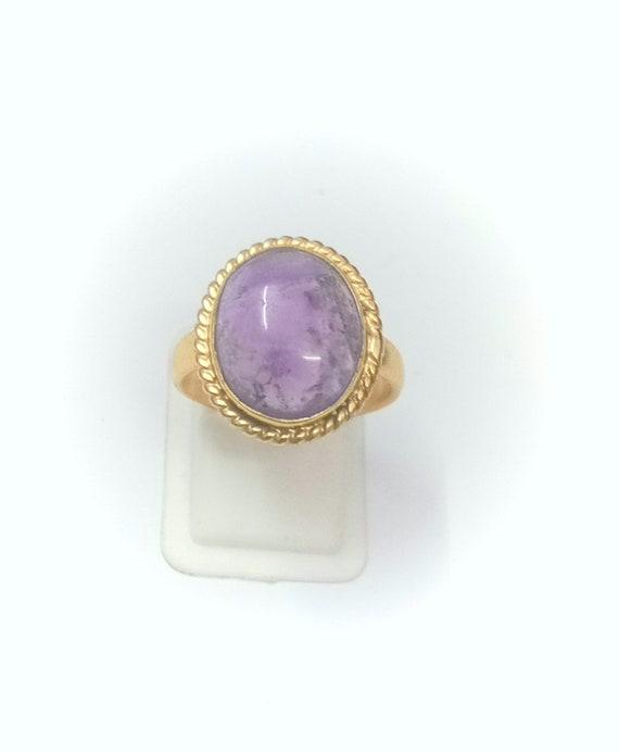 Handmade Ring  Gold Plated Ring  Designer Ring  Crystal Ring Amethyst Ring  Jewelry  Birthday Gift Ring  Fashion Ring  wedding gift