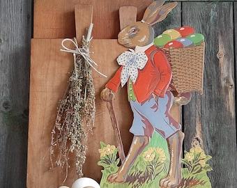 XXL Pappei Vintage Nostalgie Osterei Papp-Ei Ostern Geschenk Verpackung 35 cm