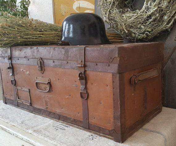 Rar! antique officer's suitcase*suitcase*Oldtimer