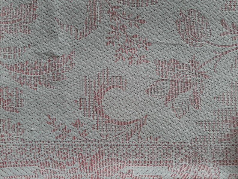 Rar antique YOUTH STIL tapestry tablecloth*antique table blanket*antique overlay*antique 1900  1910 tapestry tablecloth*antique tablecloth