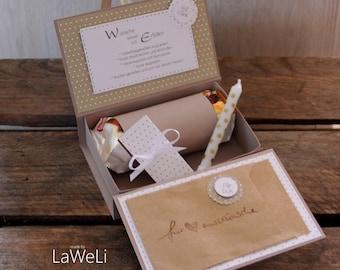 Gift box, gift birthday, wish fulfiller, money gift, guest gift, souvenir,