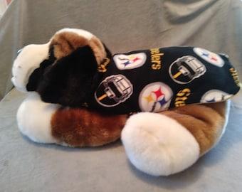 d4ee3e909 PITTSBURGH STEELERS Fleece Dog Coat Pittsburgh STEELERS Reversible Fleece  Dog Coat Handmade Fleece Dog Coat in Multiple Sizes