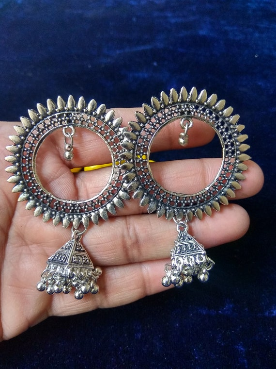 gift for her oxidized silver earring,ethnic earring,traditional fashion earring,wedding gift,aniversary gift,new year gift NEW YEAR SALE !