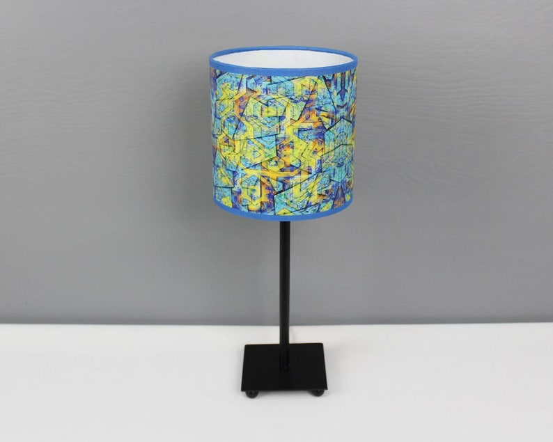Lamp sEN kOSIARZA 2 S blue-yellow standing desk image 0
