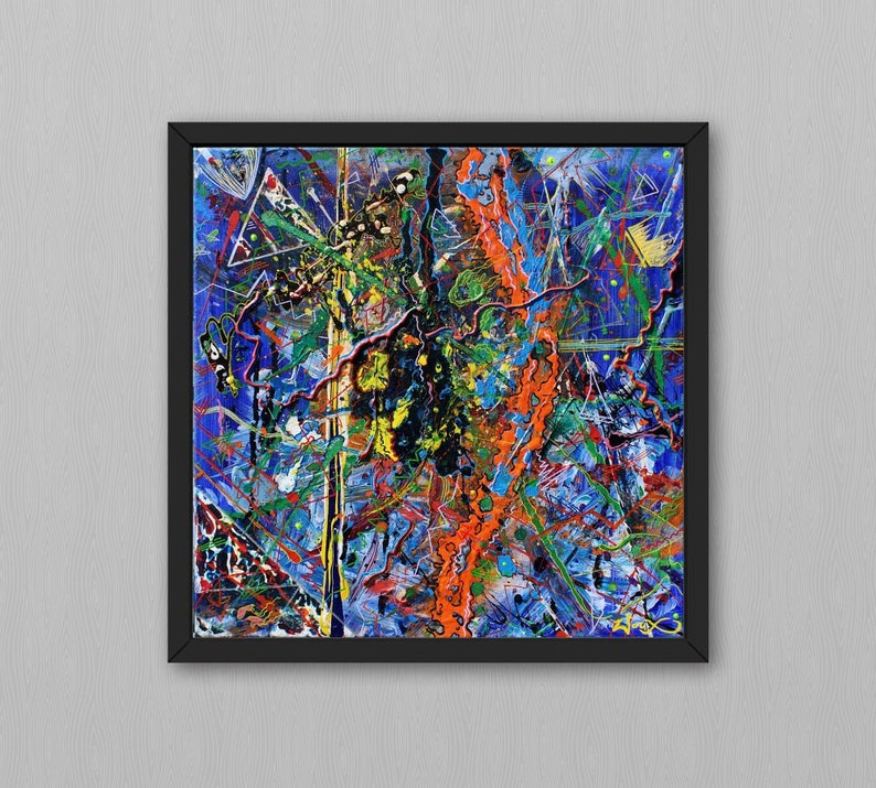 Poster zLOZONOSNY. A colorful abstract painting by image 0