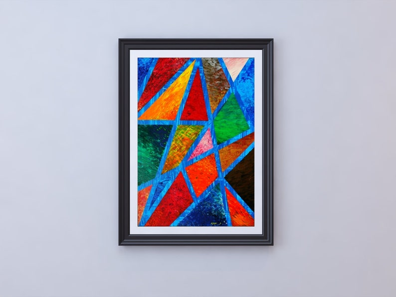 Poster uNCLOSED cOLOR. Colorful inspiring abstract image 0