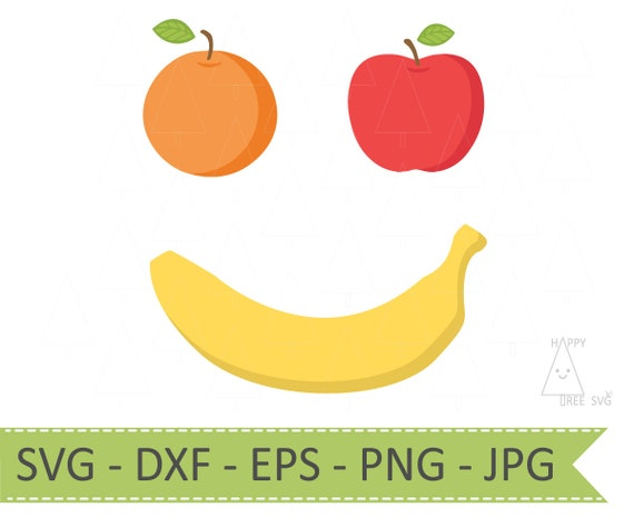 Fruit Face Svg Fruit Svg Dxf Png Eps Jpg Food Svg Food Etsy