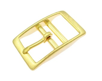 Double bar buckle brass 16 mm, 20 mm and 25 mm for dog collars