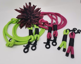 Dog leash/dog collar apple or berry, dew, rope, PPM, keychain