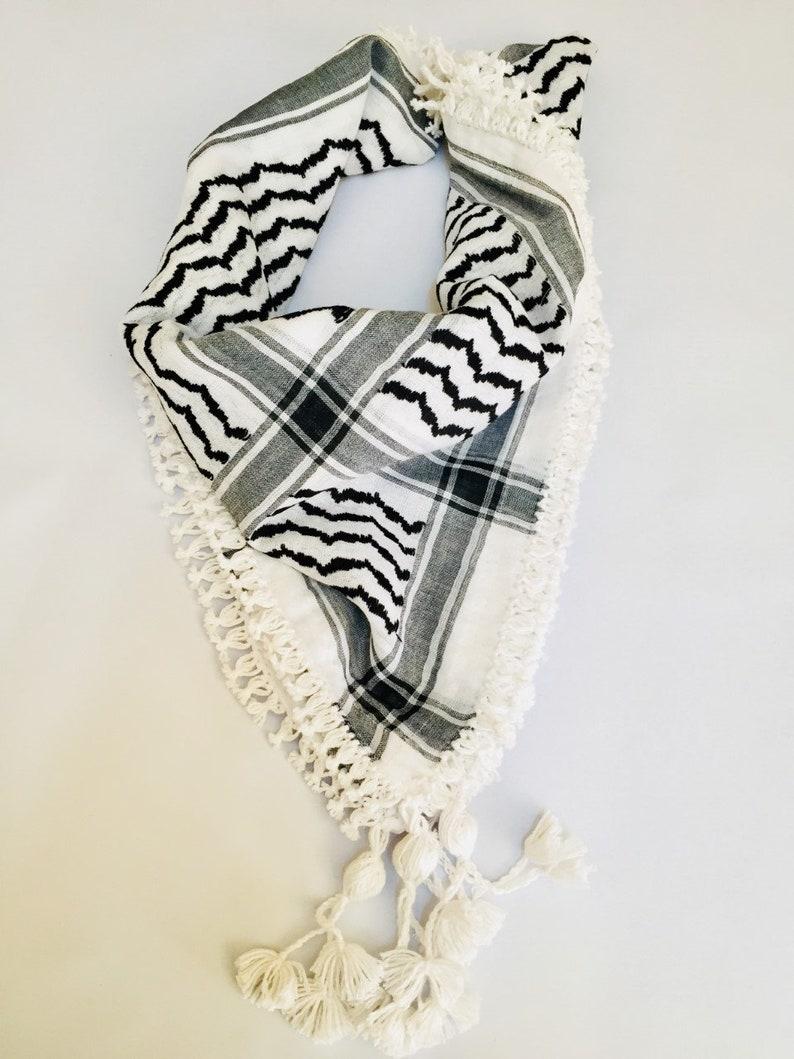 Jordanian Red white Keffitey Shemagh Arab Scarf Cotton Unisex Hatta Brand New