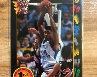 02b30d0356540 Rick Fox recrue carte UNC Tarheels basket-ball NBA NCAA sauvage carte Los  Angeles Lakers Vintage