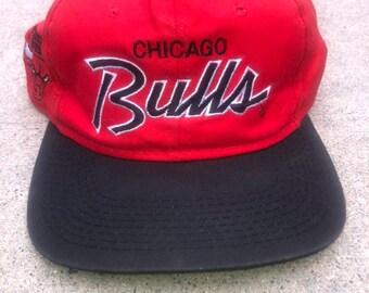 46892e87df951f Chicago Bulls Vintage Sports Specialties Script Snapback Hat Cap NBA  Basketball Michael Jordan