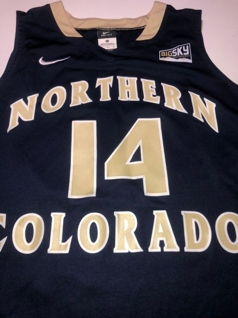 sale retailer f78e0 11a3e Northern Colorado Bears Basketball Jersey Nike Adult XL University College