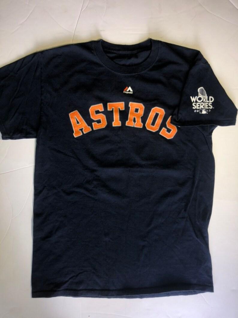 wholesale dealer 8da95 a2820 Houston Astros Baseball Jersey Shirt Large MLB World Series Jose Altuve