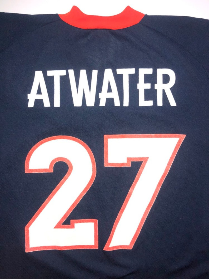 watch cfa2f f828e Denver Broncos Steve Atwater Jersey Logo 7 Mens Large Vintage NFL Football
