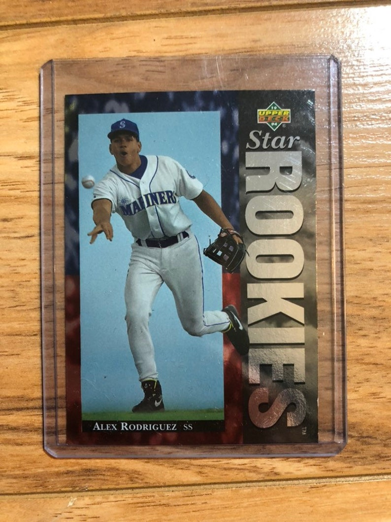 Alex Rodriguez Rookie Card Upper Deck 1994 Star Rookies Mlb Baseball Seattle Mariners New York Yankees