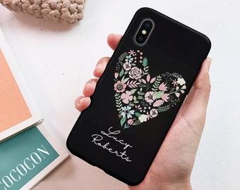 c4a8c5c304 Black floral Heart Google Pixel 3a case Google pixel 2 xl case Google Pixel  3a XL case Pixel 3 pixel phone case pixel 3a case pixel 2 XL 42