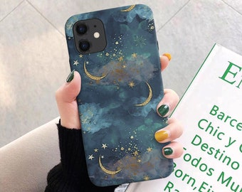 Moon and Stars iPhone 11 12 Case iPhone XR Case iPhone 8 Case iPhone 11 Pro Case iPhone X XS Case iPhone Tough SE2 SE 2020 iPhone 7 Cas c159