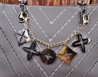 b2922746203775 Bag Charm Chain Clover Charm Chain Designer Handbag Charm Designer Charm  Gift for Her Gift for Mom MC2021