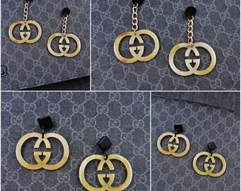 f15bbf339 Inspired Gucci Earrings GG Earrings for your Gucci Dress or Gucci Handbag  handmade from buffalo horn MC3018
