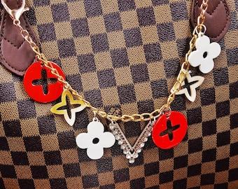 9585065ef70afc Bag Charm Chain Clover Charm Chain Designer Handbag Charm Designer Charm  Gift for Her Gift for Mom MC2022