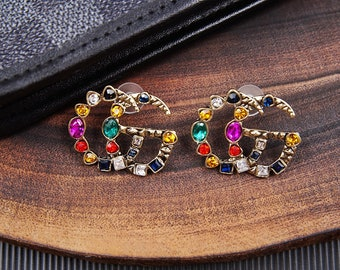 221119920 Inspired Gucci Earrings GG Earrings for your Gucci Dress or Gucci Handbag  handmade from buffalo horn MC3024