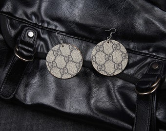 3ad541381 Repurposed Gucci Earrings Recycled Gucci Jewelry Round Earrings Drop  Earrings MC2001