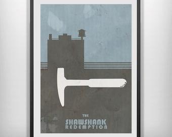 Shawshank Redemption movie poster minimalist