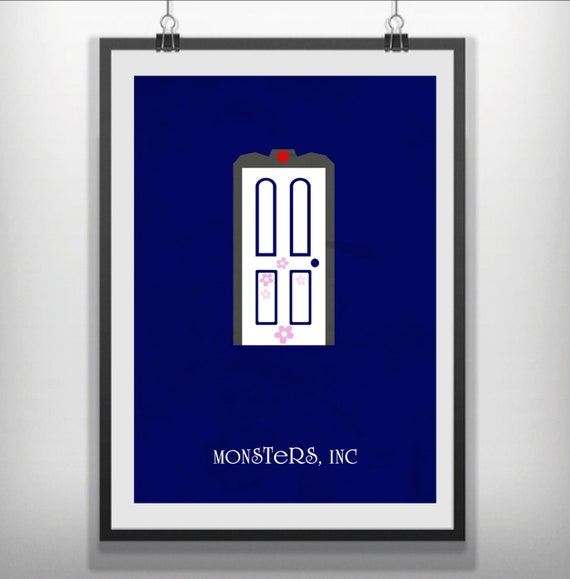 Monsters Inc Movie Poster Minimalist
