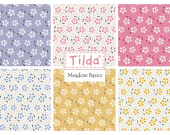 Tilda Fabric Pack Meadow 6 Pcs 50x55 Fat Quarter