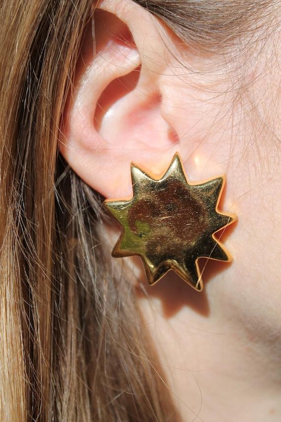 CHRISTIAN LACROIX – Vintage Golden Sun Earrings