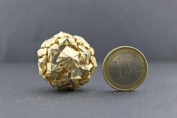 LANVIN – Rare Vintage Massive Sculptural Dome Ear… - image 5