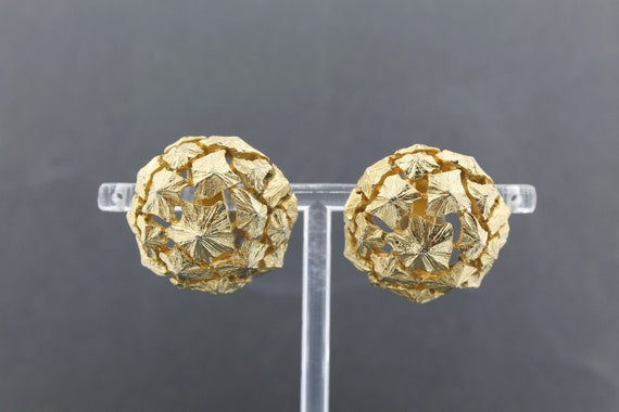 LANVIN – Rare Vintage Massive Sculptural Dome Ear… - image 4