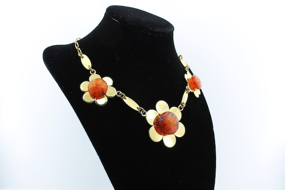 1960's Hippie Flower Power Necklace