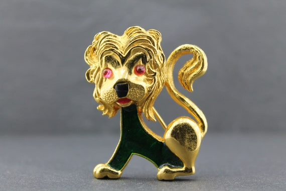 CARVEN – Lion Brooch / Animal Jewelry from the 196
