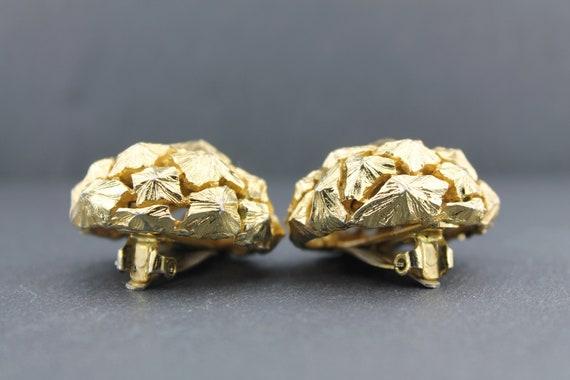 LANVIN – Rare Vintage Massive Sculptural Dome Ear… - image 7