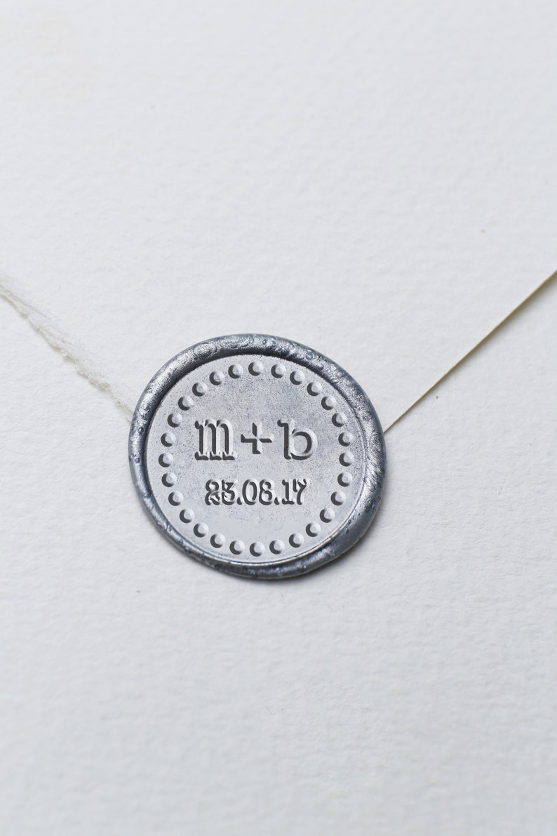 Initials with date Wax Seal Stamp  Custom Wax Seal Kit Wedding Seal StampCustom Seal StampInvitation seal stamp