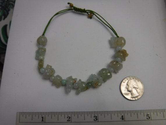 Natural Burmese Jade Carved Pomegranate Bead Bracelet Grade A Burma Jadeite Elastic Stretchable for Fertility and Generational Luck
