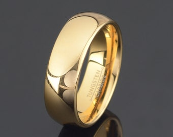 Tungsten Wedding Band Men/'s 7MM Domed Classic Tungsten Ring JDTR175 Custom Engraved Personalized Ring