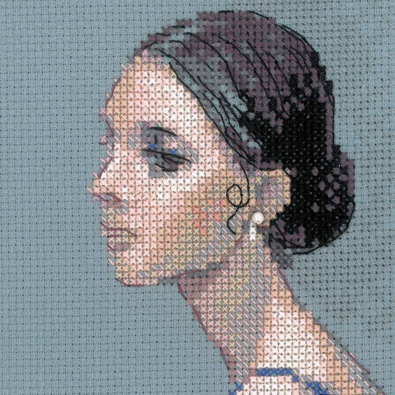 New Unopened Modern Cross Stitch Embroidery Kit Ballerina by Russian Manufacture Riolis gift for embroidery