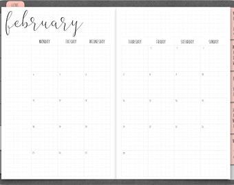 6 Month Planner Etsy