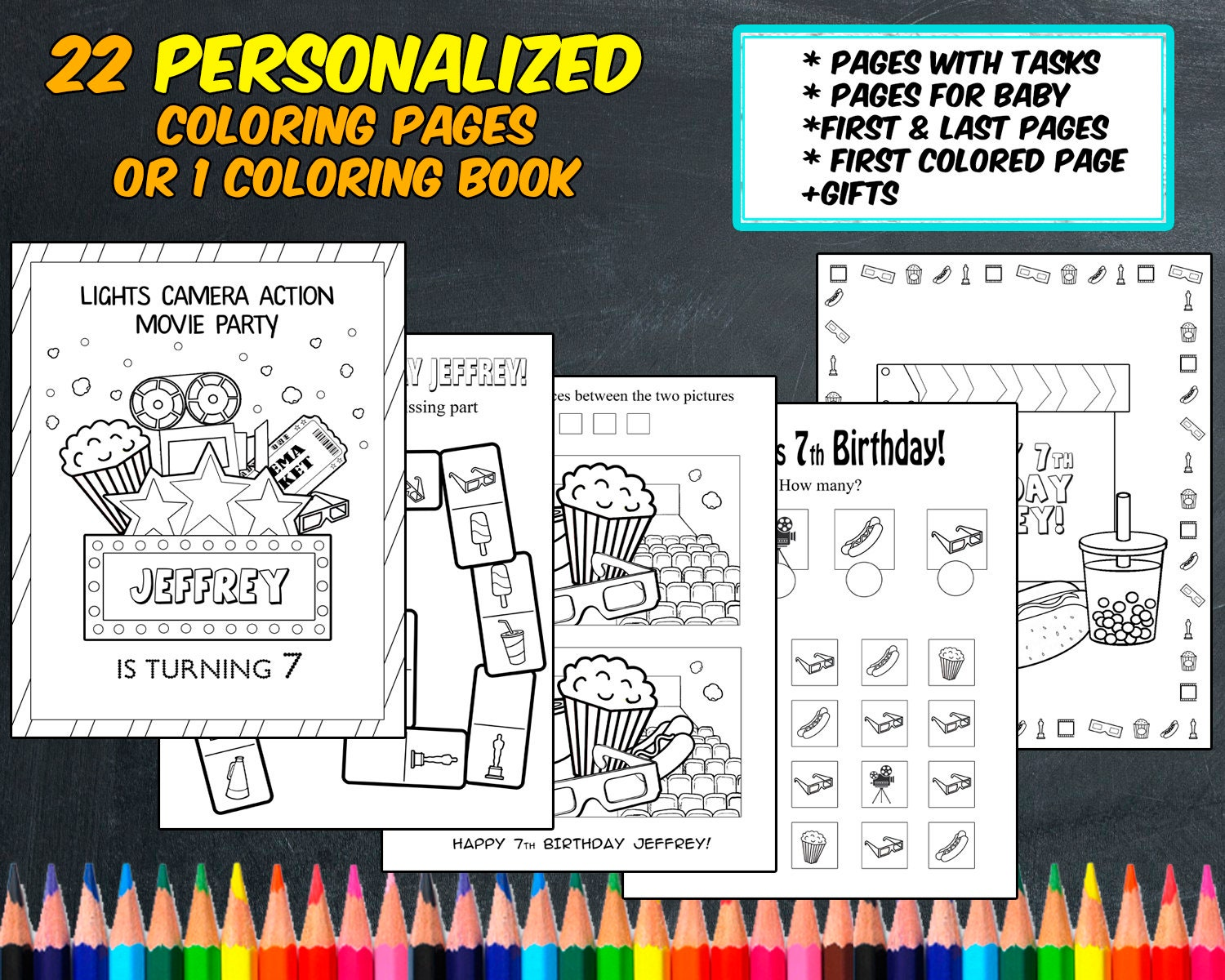 personalize a coloring page. great for card. Happy Birthday, *Name ...   1200x1500